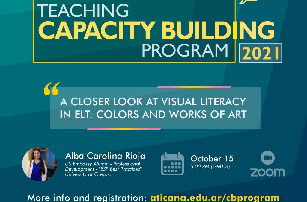 """Webinar: October 15th – """"A closer look at visual literacy in ELT: colors and works of art"""""""